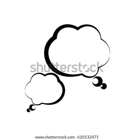 Black dialogue bubble simple icon on white background. Vector illustration. icon. sign
