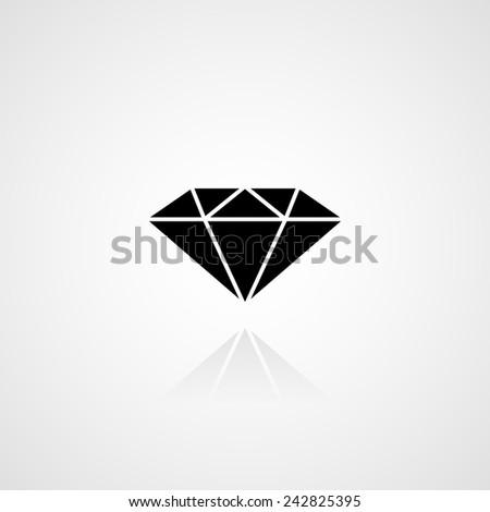 Black diamond icon. Vector - stock vector