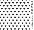 Black diamonds pattern on white background vector - stock vector