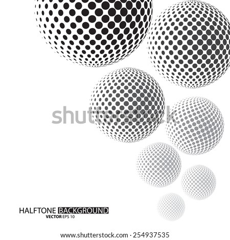 Black dots halftone background can be use for pattern, backdrop, wallpaper, surface. the text can be added - stock vector