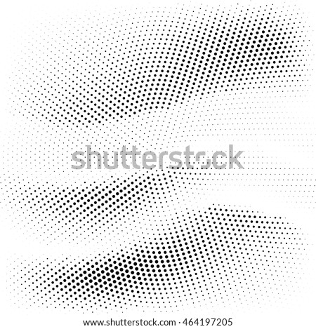 Black dots on white background. Halftone effect vector background