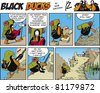 Black Ducks Comic Story episode 70 - stock photo