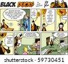 Black Ducks Comic Strip episode 53 - stock photo