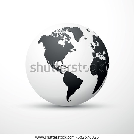 Black earth globe world map design stock vector 579372160 black earth globe world map design america gumiabroncs Image collections