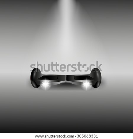 Black Electric scooter - stock vector