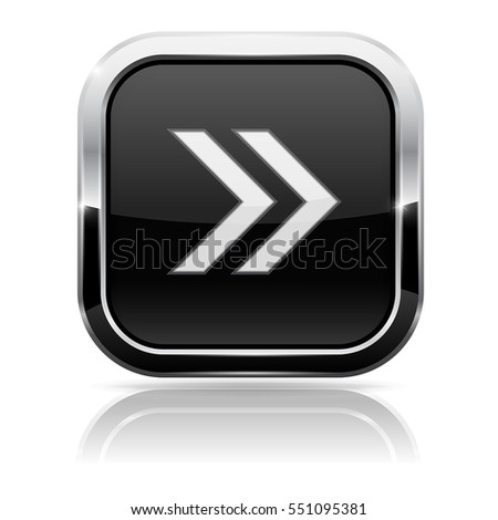 Black Fast Forward Button Chrome Frame Stock Vector 551095381 ...