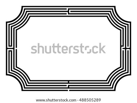 Black frame arranged as four-lane maze providing horizontal copy space with inverted rounded corners.