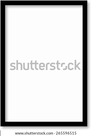 Black frame on a wall vector background design for your content - stock vector