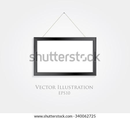 Black frame vector background. - stock vector