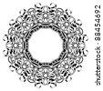 Black frame with ornamental border - stock vector