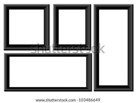 Black frames - stock vector