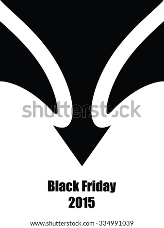 black friday abstract background - stock vector