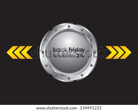 black friday background with metallic design - stock vector