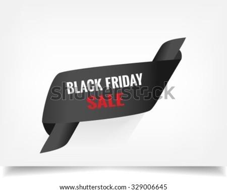 Black Friday Banner - stock vector