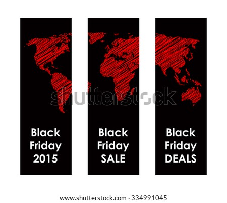 black friday banner - stock vector