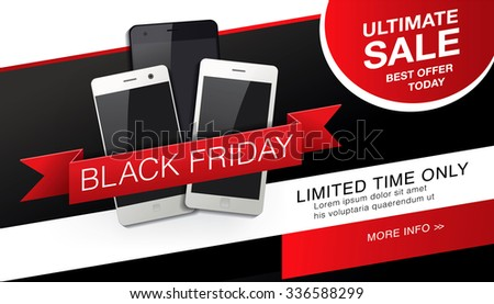 Black friday banner. Sale - stock vector
