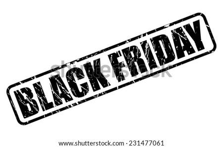 Black friday black stamp text on white - stock vector