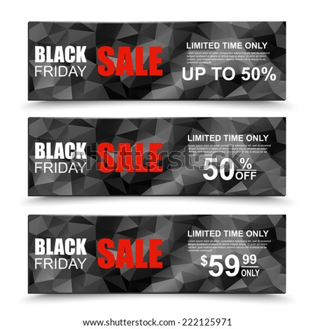 Black Friday collection sale banner - stock vector