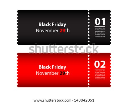 black friday coupon - stock vector
