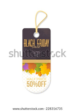 Black Friday Price Concept Tag, Banner, Label  - stock vector