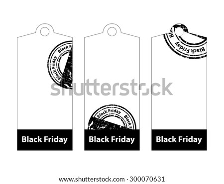 black friday price tags - stock vector