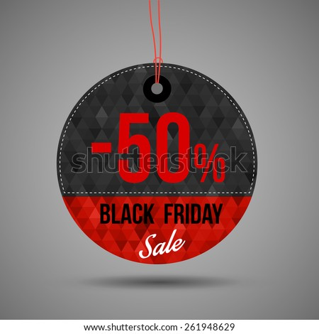 Black Friday Round Style Price Concept Tag.  - stock vector