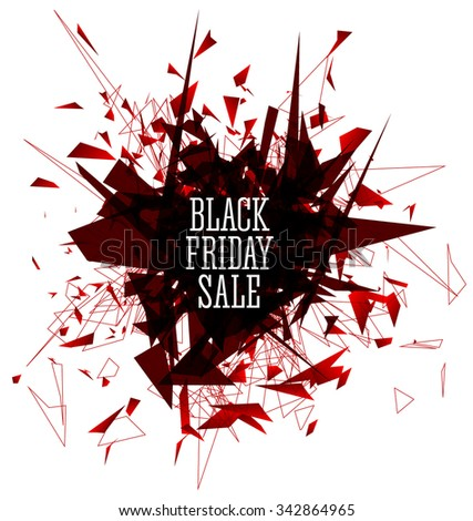 Black Friday Sale Abstract Explosion Background. Vector illustration. - stock vector