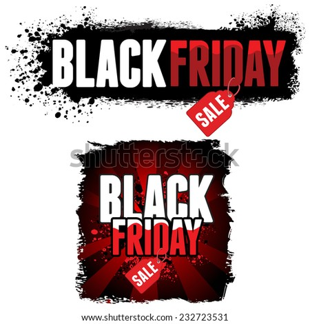 Black Friday Sale advertisement. Vector Illustration for your business design. - stock vector