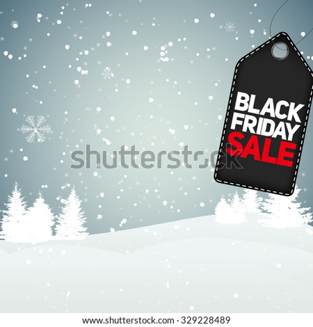 Black Friday Sale Background Vector Illustration EPS10 - stock vector