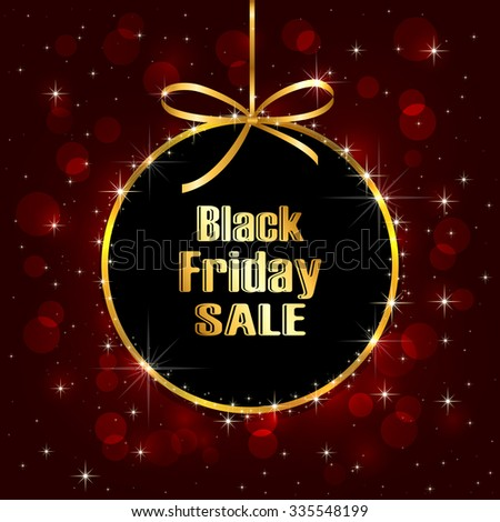 Black Friday Sale background with blurry lights, illustration. - stock vector