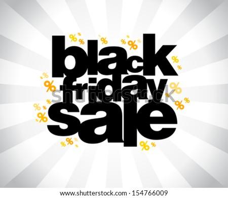 Black friday sale banner. - stock vector