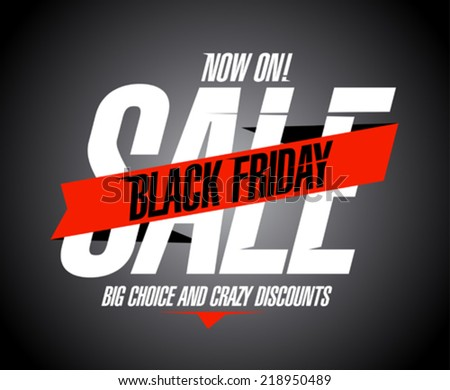 Black friday sale banner. - stock vector