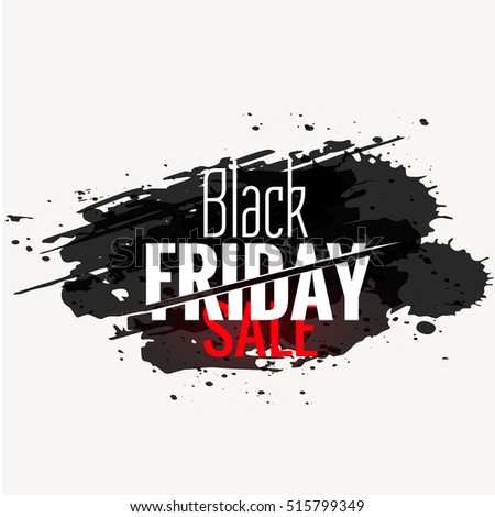 black friday sale banner in grunge ink background