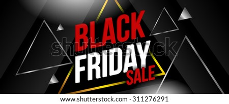 Black friday sale banner. Vector illustration  - stock vector