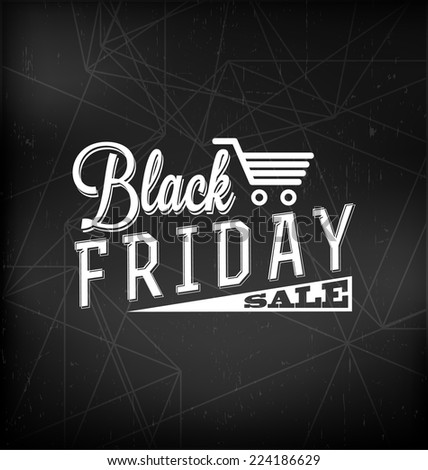 Black Friday Sale Calligraphic Design - stock vector