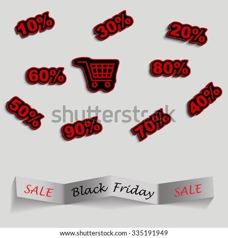 Black friday sale design - stock vector