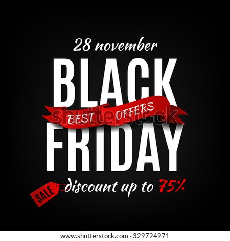 Black friday sale design template. Black friday banner - stock vector