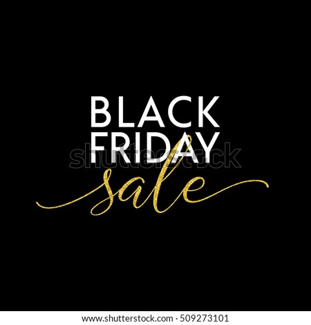 Black Friday Sale illustration for social media banner, ad, newsletter, poster, flyer, website. Typographic vector design.