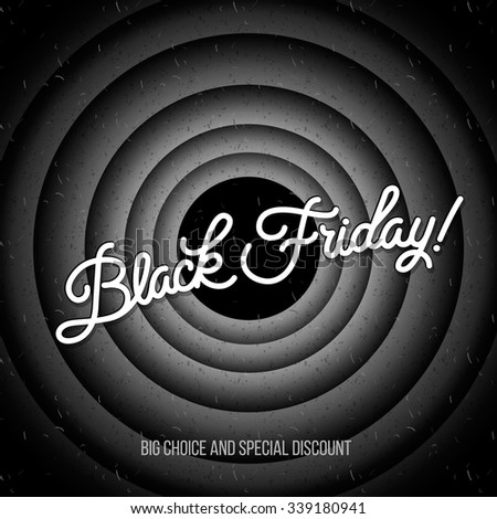 Black Friday sale inscription design template. Black Friday banner, vector illustration. - stock vector