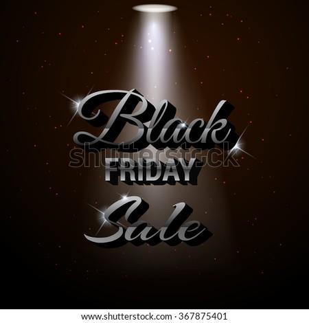 Black Friday sale promo department store template. Black Friday banner. Vector illustration. - stock vector