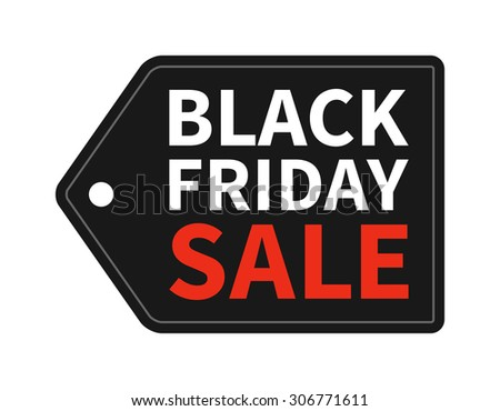 black friday sale tag promotion vector stock vector 306771611 rh shutterstock com black friday shopping clip art black friday clip art free