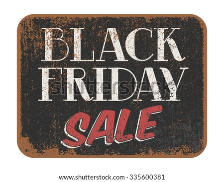 Black Friday Sale vintage sign - stock vector