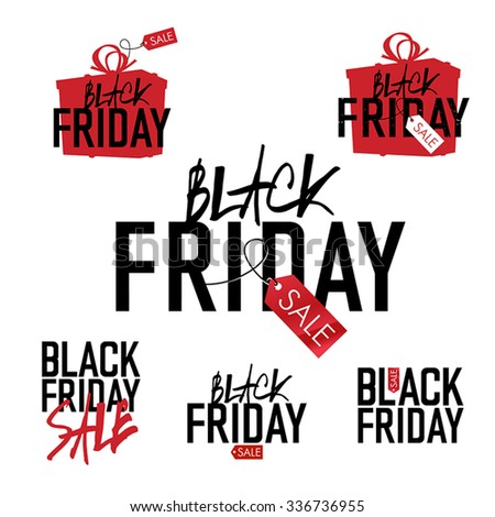 Black Friday sales Advertising Labels Collection. - stock vector