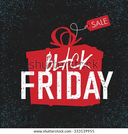 Black Friday sales Advertising Poster. - stock vector