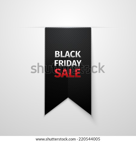Black Friday sales tag. EPS 10 vector - stock vector