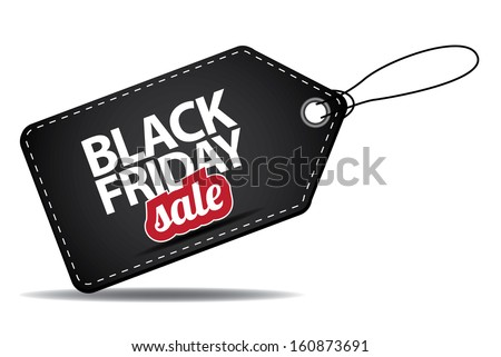 Black Friday sales tag. EPS 10 vector, grouped for easy editing. No open shapes or paths. Black friday design, sale, discount, advertising, marketing price tag. Clothes, furnishings, cars, food sale, - stock vector