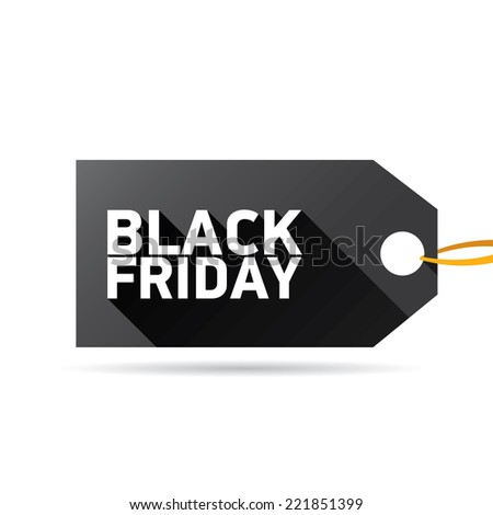 Black Friday sales tag on white. vector illustration - stock vector