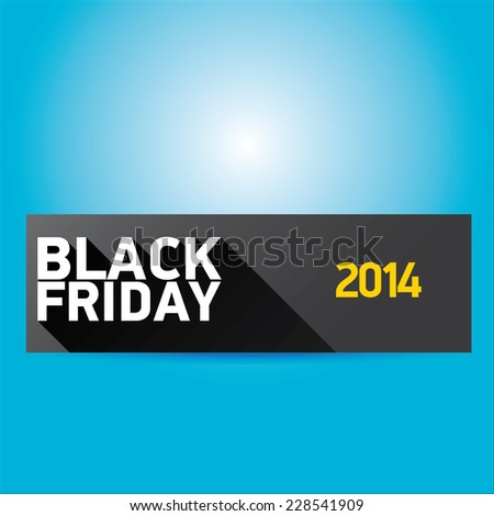 Black Friday sales tag. vector illustration - stock vector