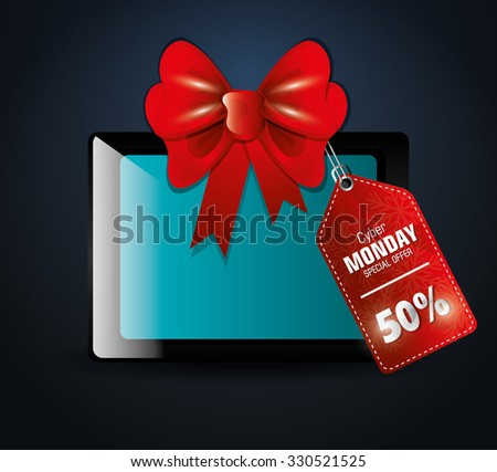 Black friday shopping season design, vector illustration