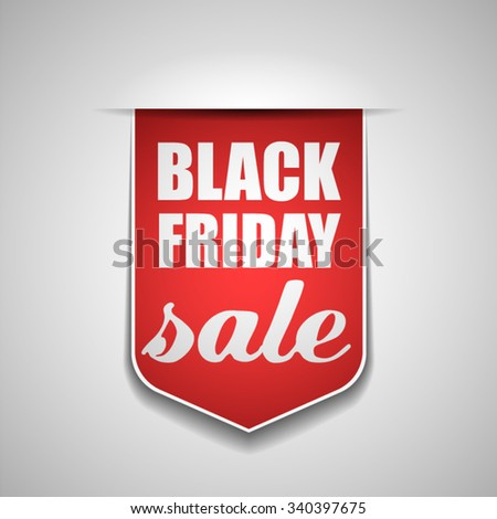 Black Friday tag - stock vector